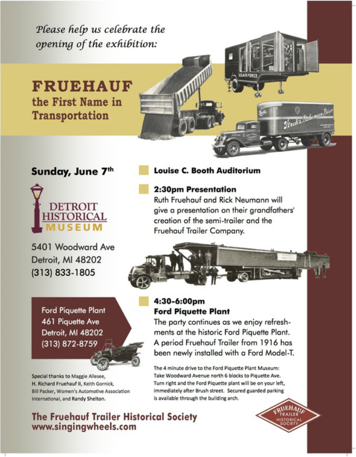 Please join us for our fun events at the detroit historical society and ford piquette plant museum