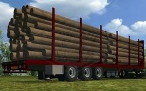 A trailer designed for the lumber industry