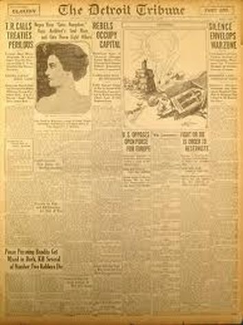 The Detroit Tribune, The first Negro Newspaper, later the afro american