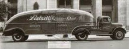 Labatt's Canadian Ale art deco designed trailer 1930
